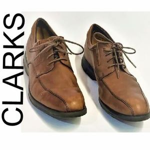 CLARK'S BROWN LEATHER SHOES MENS SIZE PLUS 11M